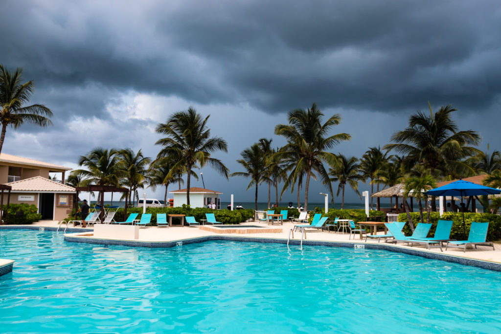 The Solara Resort Clubhouse in the Rain